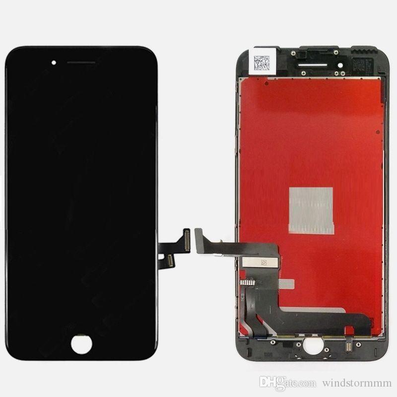 Touch Screen Retina Display LCD for Apple iPhone 7 Black Screen Glass + Frame black and white deliver the goods within 24 hours