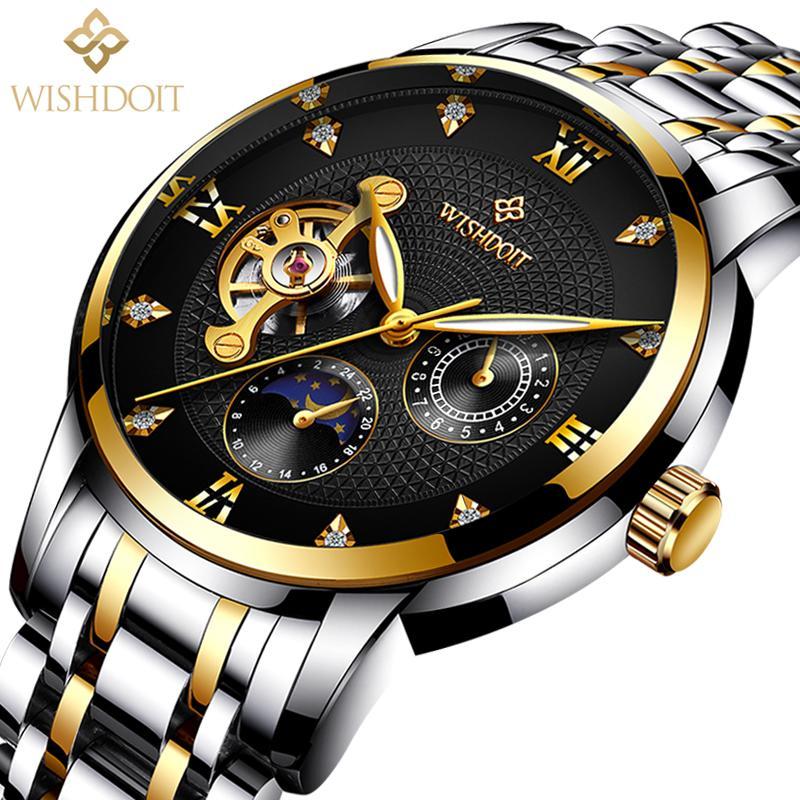 a1e10a6c026a Compre Reloj Hombre Relojes Para Hombres Reloj Mecánico Negocio Deporte Moda  Casual Reloj Masculino Resistente Al Agua Top Marca De Lujo WISHDOIT A   68.51 ...