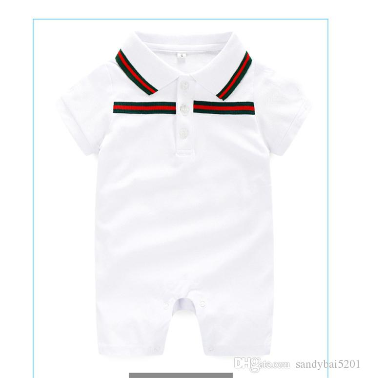 Baby Boys Girls Rompers Newborn Infant Striped sports suits 2018 Summer Kids short Sleeve jumpsuit climbing clothes for children 0-2T D313