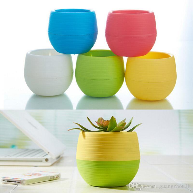 2018 7*7cm Wholesale Flower Pots Mini Flowerpot Garden Unbreakable Plastic  Nursery Pots for Succulent Plants guangzhou18