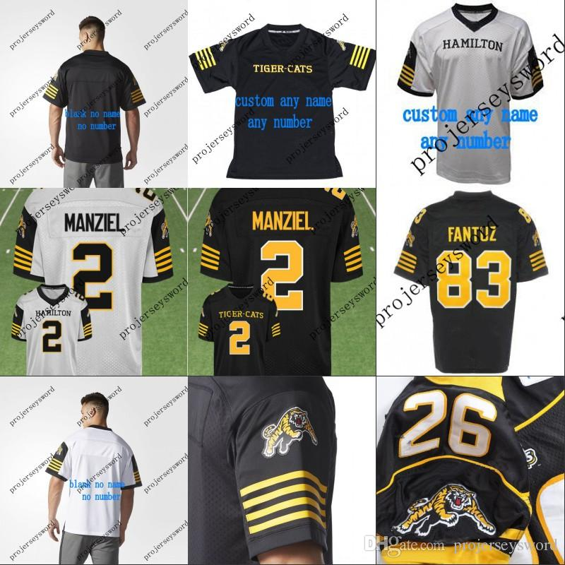 2019  2 Johnny Manziel Hamilton Tiger Cats Custom Jersey 2018 New Style  Mens Womens Youth 100% Stitched Embroidery Logos Jerseys Black White From  ... 5d33f15c2