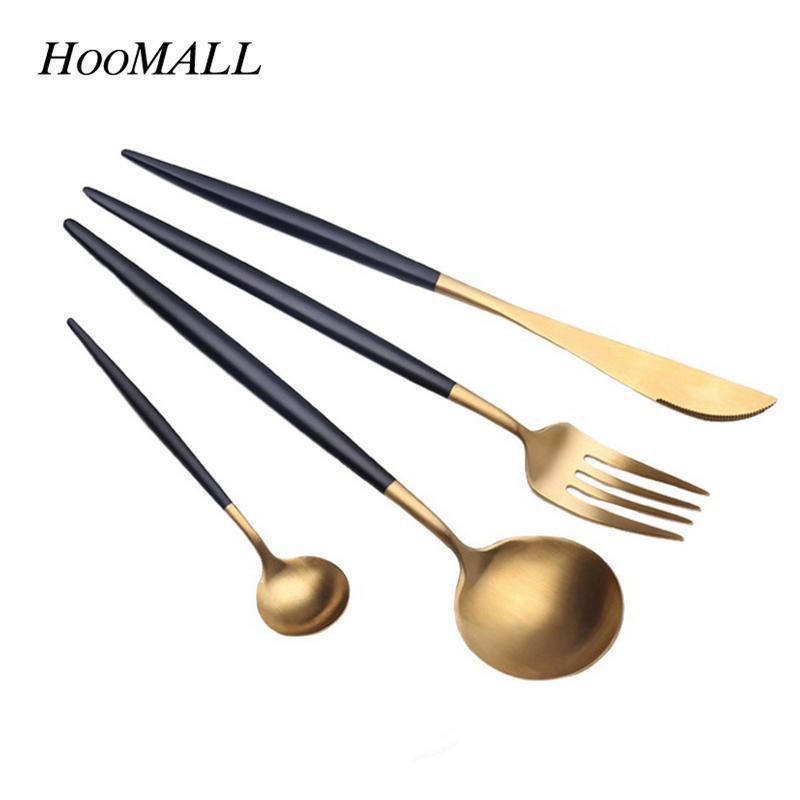 Geschirr Küche | Grosshandel Hoomall 4 Teile Satz Edelstahl Geschirr Set Besteck