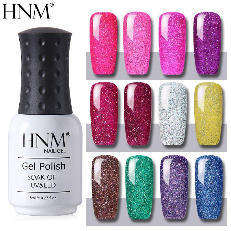 Hnm /Bling Series Gel Varnish Set Tools Kit Soak Off Nail Polish Diy ...