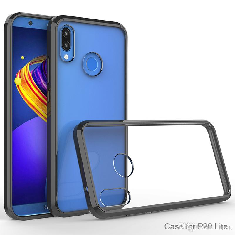 For Huawei P20 Defender Case High Impact Clear Rugged Armor Phone Case Back Cover for Huawei P20 P20 Pro
