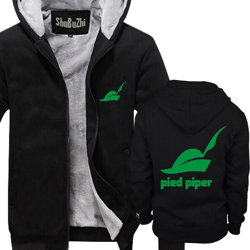 Winter Men Thick Hoodies Male Fleece Coat Pied Piper Company Logo Silicon  Valley Shubuzhi Man Super Warm Jacket Euro Size UK 2019 From Aimea c421128c6220