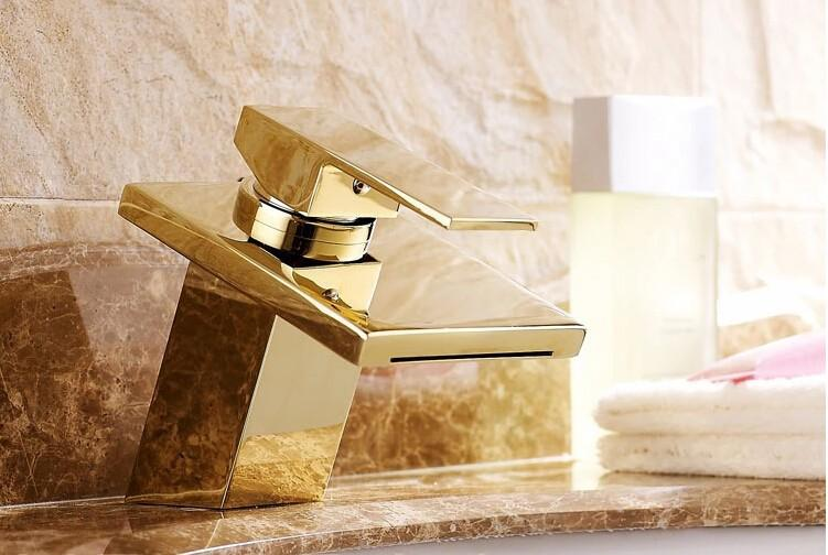 2018 Luxury New Style Bathroom Basin Sink Faucet Waterfall Mixer Tap ...