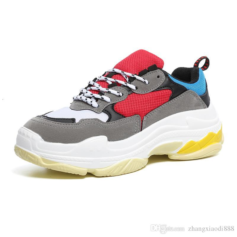 outlet top quality with paypal for sale 2018 Fashion Paris 17FW Triple-S Sneaker Triple S Casual Luxury Dad Shoes for Men's Women Beige Black Sports Tennis Running Shoe 37-40 (18) outlet how much PnYT7JARUF