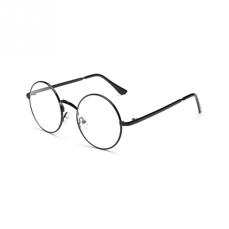 a4f245edf72b Unisex Glasses Frame Women Men Retro Round Metal Frame Clear Lens ...