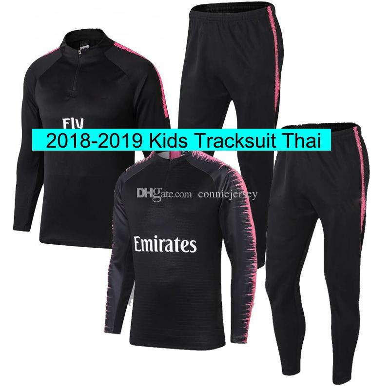 Survetement Kids Ps G Set 2018 19 Jerseys Football Jogging Equipe De Paris  Long Sleeve Soccer Tracksuit Training Track Suit Maillot De Foot UK 2019  From ... b0c7f27bbcaa2