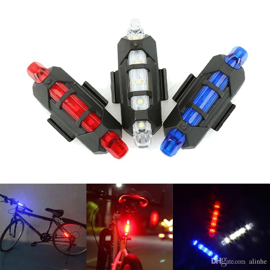 Cycling 5 LED USB Rechargeable Bike Bicycle Tail Warning Light Rear Safety Lamp Cycling Bike light 4 Model Warning Light