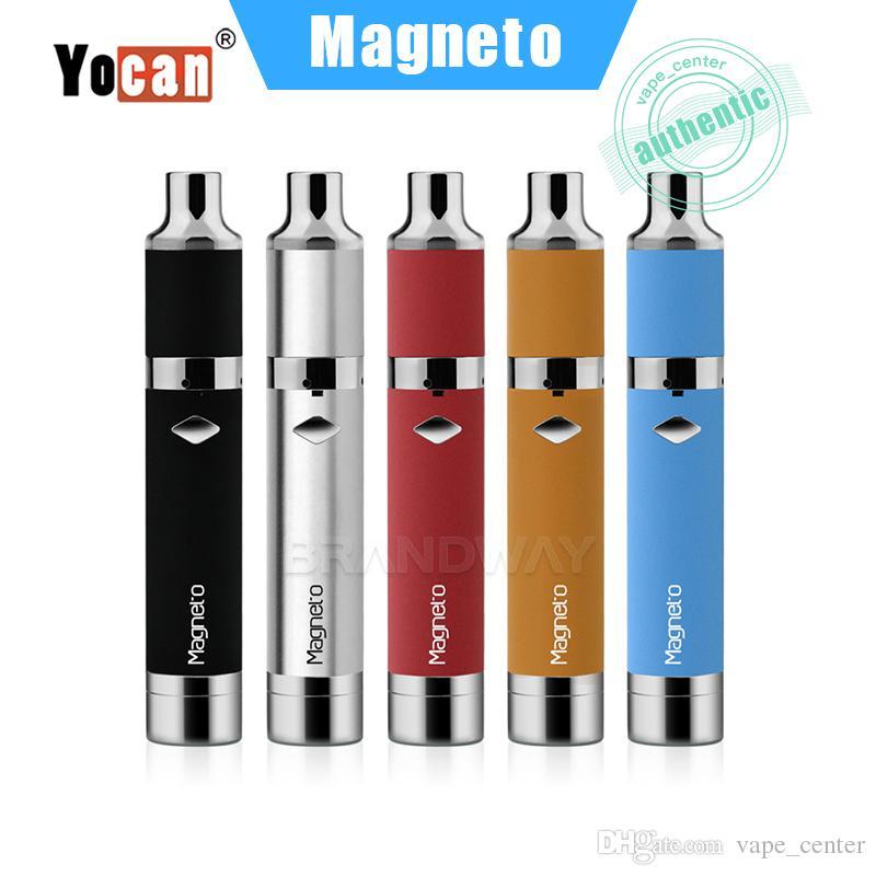 100% Original Yocan Magneto Starter Kit Dry Herb Wax Pen Vaporizer 1100mAh  Battery Magneto Cartridge Ceramic Coil Atomizer