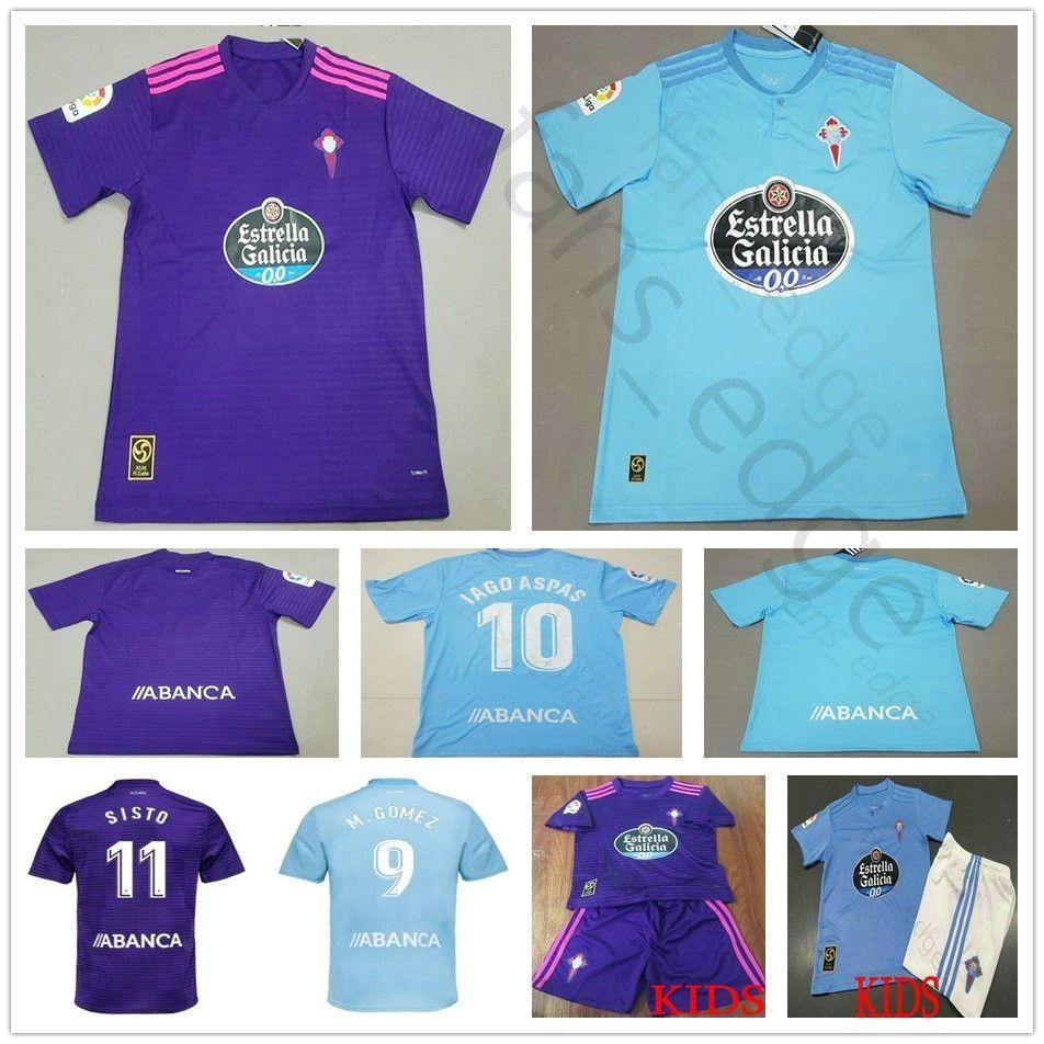 7f4cd8eea Camisetas De Fútbol Celta De Vigo 2019 Fontas 6 Radoja 9 M.Gomez Hernandez  Guidetti 10 Aspas 11 Sisto Adult Football Camiseta De Fútbol Por  Famous shop