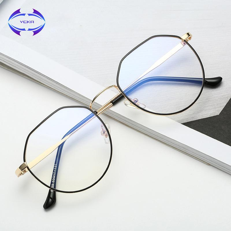 493ca5f91d6 2019 VCKA Computer Glasses 2017 Eyewear Frame Anti Blue Light Game Glass  Metal Frame Anti Glare Eyeglasses Women Men From Ancient88