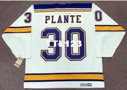 e0b6c835 Mens #30 JACQUES PLANTE St. Louis Blues 1968 CCM Vintage Hockey ...