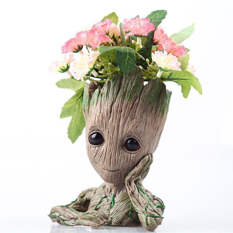 2019 Grootted Planter Pot Baby Flowerpot Action Figures Toy Pen Pot