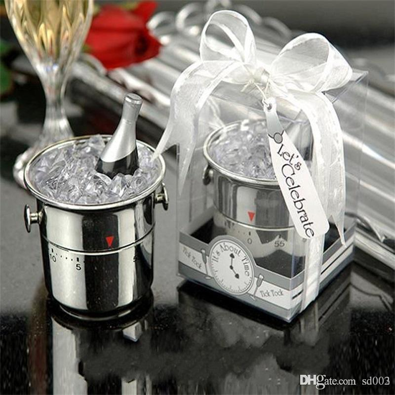 Ice Bucket Shape Countdown Timer Alarm Creative Wedding Small Gift  Practical Time Meter Exquisite Kitchen Cooking Tools New 7 2zl ZZ