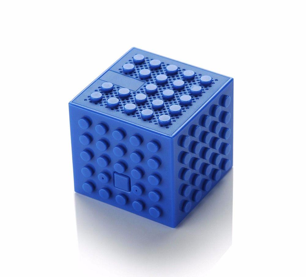DIY Blocos de Construção de Alto-Falante Sem Fio Bluetooth Cubo Empilhável subwoofer de design de tijolo torre Magnética Constructible brick Speaker Crianças gadgets