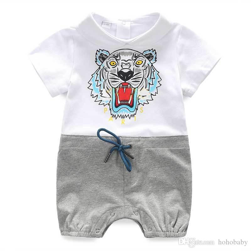 24c067ebaa9c 2019 0 24 Months Baby Boy Romper Summer Fashion Short Sleeve Baby Boy  Clothing Toddler Roupas Clothes Newborn Baby Girl Clothes Infant Jumpsuit  From ...