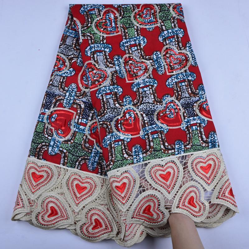 New Nigerian Printing Wax Guipure Embroidered Material Ankara Wax