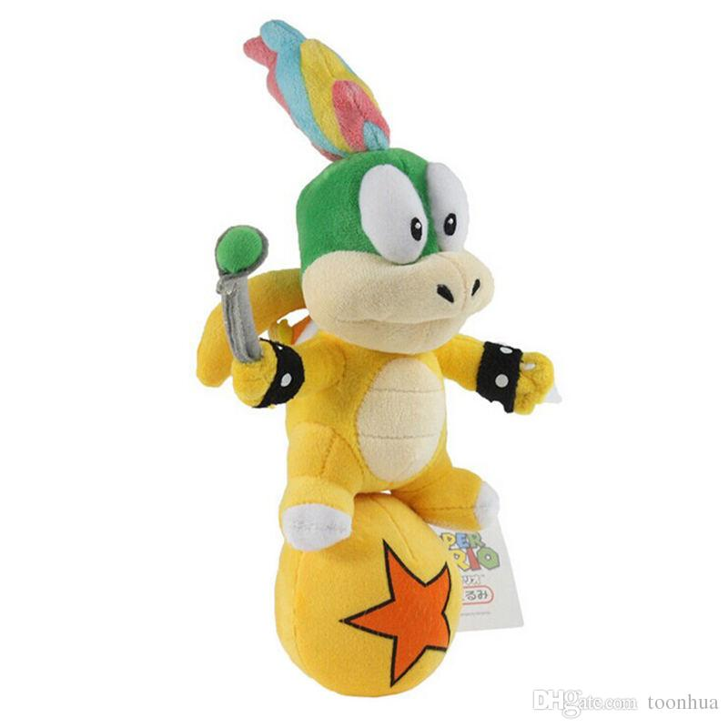 New 25CM Super Mario Bros Koopa Lemmy Standing Ball Plush Doll