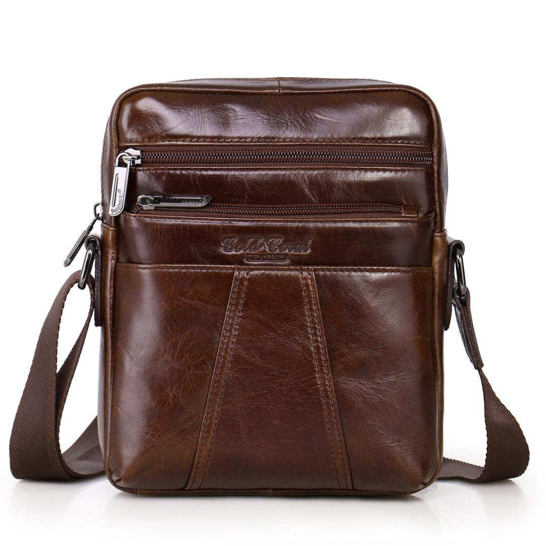 8dcce2c0a30e1 Real Leather Mens Crossbody Bag Promotion Casual Mens Shoulder Bags Black  Brown Leisure Brand Man Bag Womens Handbags Body Bags From  Amoybasketballshoes