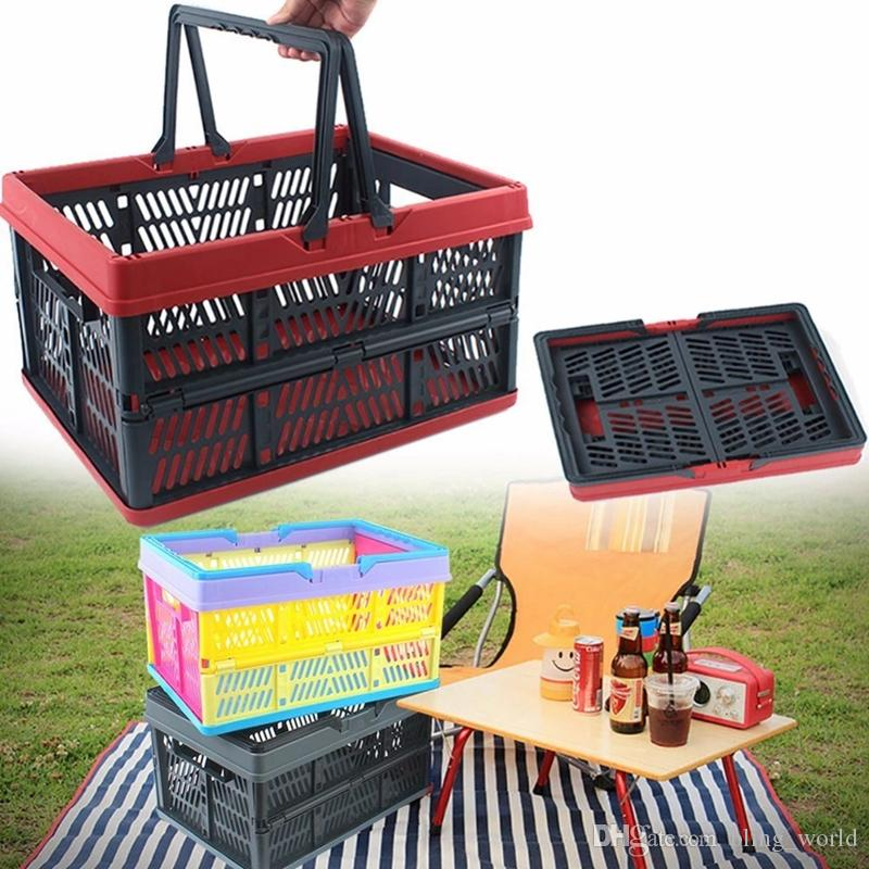 Delicieux 2018 Outdoor Storage Baskets Camping Folding Storage Basket Plastic Storage  Container Handheld Basket Camping Tools Food Organizer Yfa284 From  Bling_world, ...