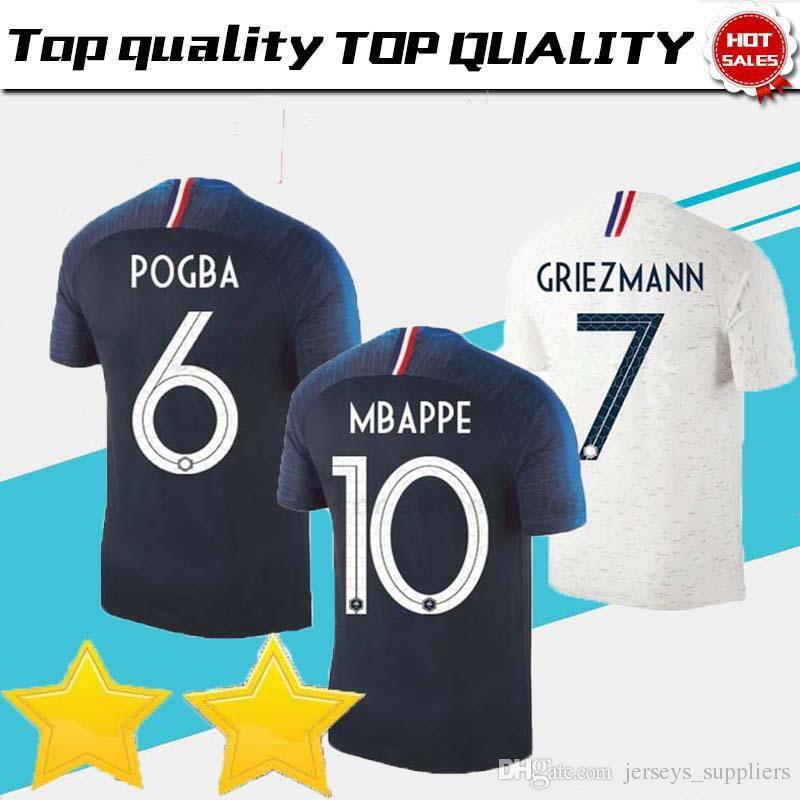 5994fb73c8d 18/19 Football Jerseys 2018 Fr Blue Soccer Jerseys Griezmann Zidane ...
