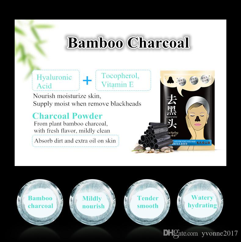 8g bamboo charcoal blackhead removal cream with hyaluronic acid peel off nose black mask purify and shrink pores