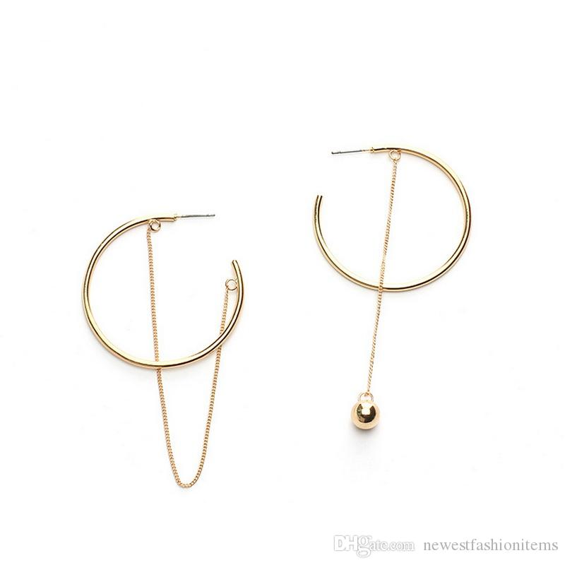 Stud Earrings New Personality Glossy Metal Round Stud Earrings For Women Brincos Statement Jewelry Simple Party Jewelry Earings Fashion Convenient To Cook Jewelry & Accessories