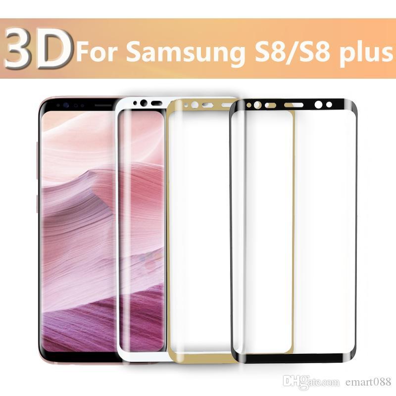 3D samsung galaxy s8 vetro temperato vetro di protezione dello schermo Samsung Galaxy S8 Plus vetro temperato protezione dello schermo Pellicola occhiali nuovo