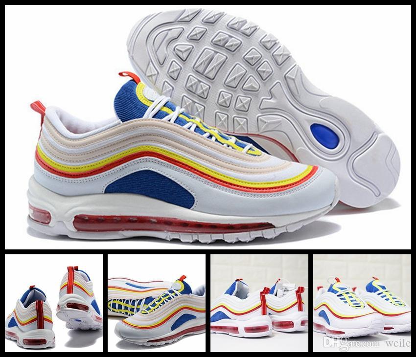 Scarpe Da Tennis 2018 SE 97 Summer Vibes Scarpe Da Corsa Donna Uomo Scarpe  Da Ginnastica Colorate 97s Ultra OG Olympic Rainbow Bullet Sport Sportive Di  ... 5f6f0a4f17a