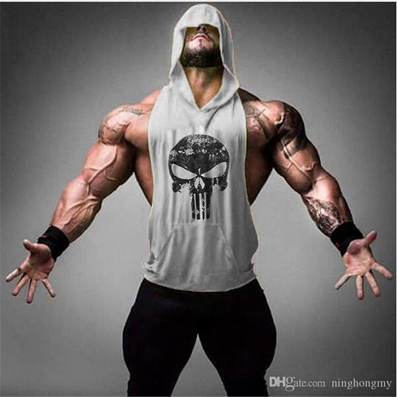 Skull Golds culturismo sudadera con capucha Tank Tops gimnasios para hombre camisa Stringer Fitness Tank Top hombres gimnasios camiseta chaleco algodón moda envío gratis