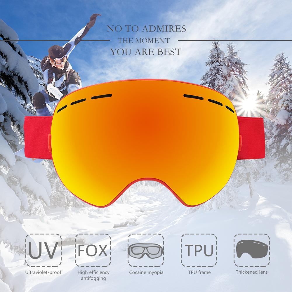 6c6451b9451 2019 Brand Ski Goggles Double Layers UV400 Anti Fog Big Ski Mask Glasses  Skiing Men Women Snow Snowboard Windproof Goggles Pro From Ekuanfeng