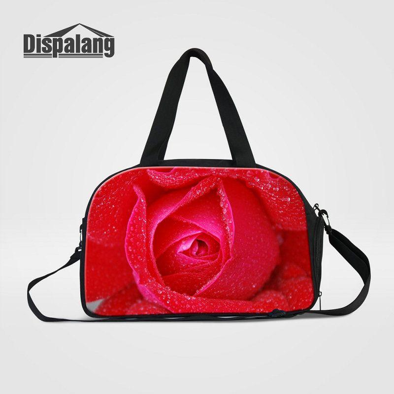 cdfb535e4e29 Canvas Weekender Duffle Bags For Trip Rose Flower Travel Duffel Bag ...