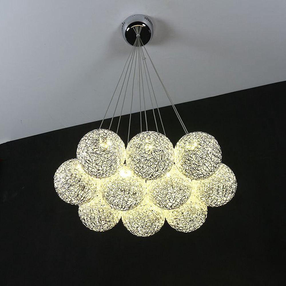 Modern Aluminum Wire Global Ceiling Pendant Light Dining Room Wiring A Fixture To Cord Restaurant Lighting Fixtures Living Chandelier Rectangular