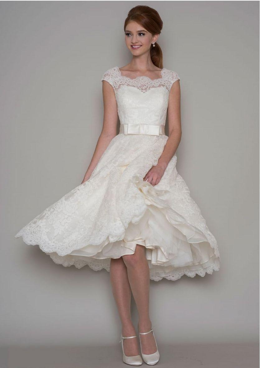 Knee Length Retro Wedding Dresses