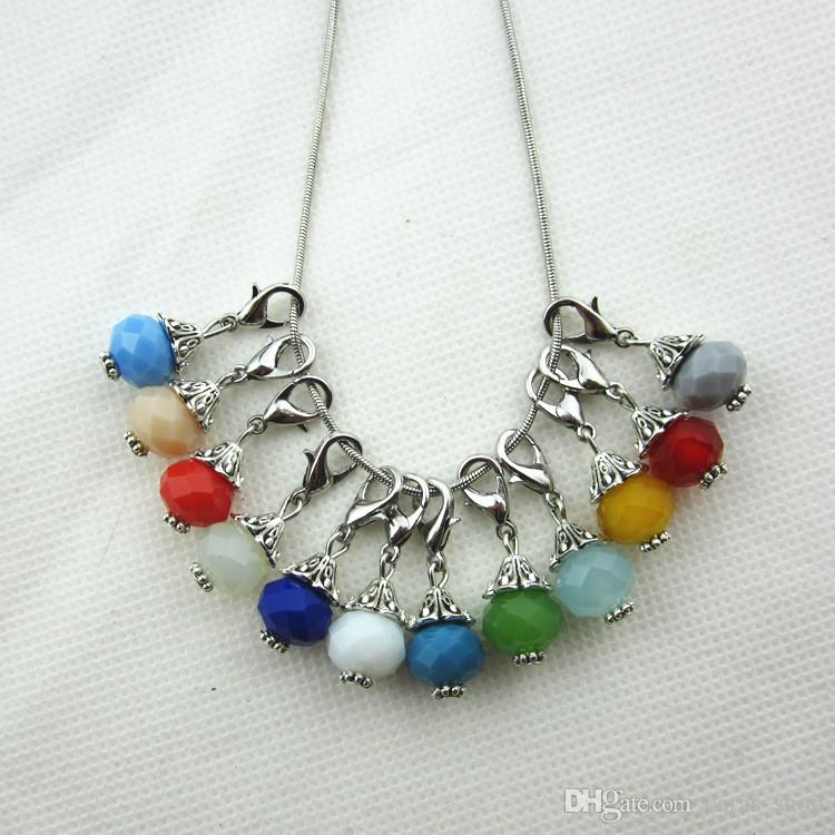 Hot selling 100/pcs grayness month birthstone crystal dangle charms lobster clasp charms for glass floating lockets