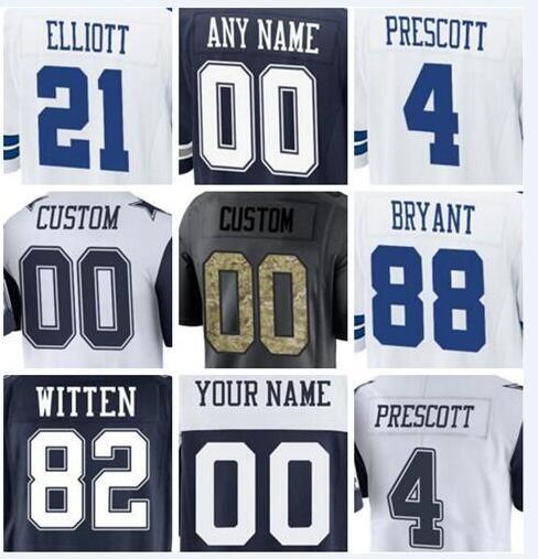 fc528ca31 2019 Mens Jersey Dak Prescott Ezekiel Elliott DeMarcus Lawrence Custom  Dallas Cowboys Personalized Womens American Youth Football Kid Jersey  Custom Jersey ...