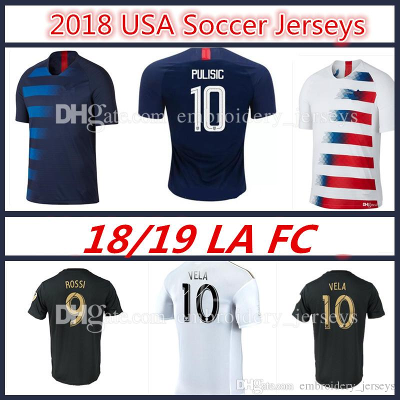 79d37e8f8ad ... hot 2018 usa pulisic soccer jersey los angles fc soccer jerseys 18 19  home away lafc