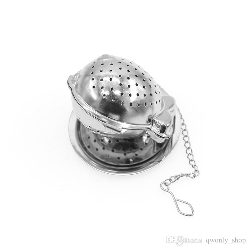 Tea Infuser with tray FISH shaped New creativity 304 Stainless Steel Tea Infuser Strainers Filter Tea Ball