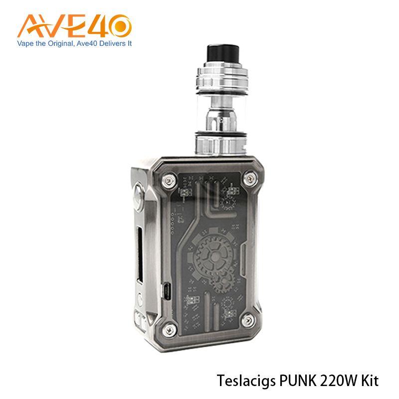 Authentisches Tesla Punk Kit mit Punk 200W Box Mod 5ml Teslacigs H8 Tank E Zigaretten Kit