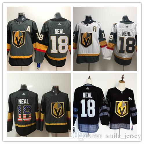 detailed look f3fbb 5736a 2019 New Mens 18 James Neal Vegas Golden Knights Hockey Jerseys Stitched  Embroidery 2018 Stanley Cup Final Patch Capitals Jersey