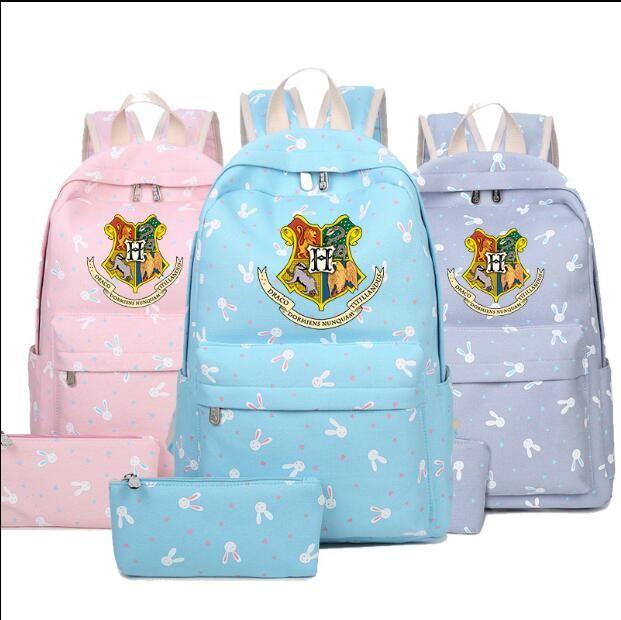 2fe77def25 Harry Potter Hogwarts Backpack Canvas Students Teenagers School Bags Travel  Shoulder Girls Cartoon Bag OOA5502 Rolling Backpack Wheeled Backpacks From  ...