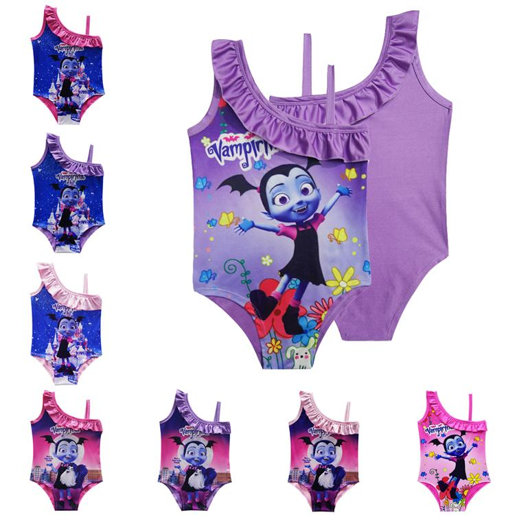 ec0da0f3ca 2019 Vampirina Kids Swimwear 3 10T Baby Girls Swimsuit Vampirina Printed One  Pieces Swim Suit Cartoon Printed Swimsuit Bathing Suits LA873 From  Kids top