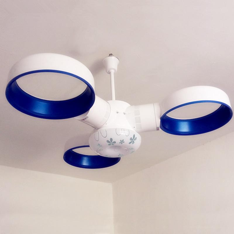 Blue Pink Modern High-tech Bladless Ceiling Fans with Remote Control ...