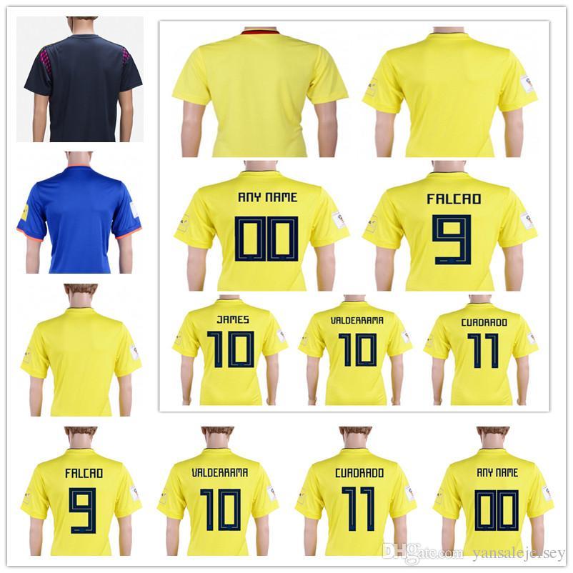 2c1f6eccf ... cheapest mens soccer jersey 2018 world cup colombia home away c.sanchez  bacca falcao james ...