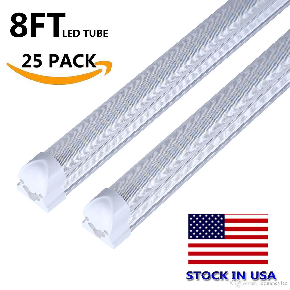8\' T8 Fa8 Led Tubes V Shape 8ft Integrated Led Light 8 Ft Work Light ...