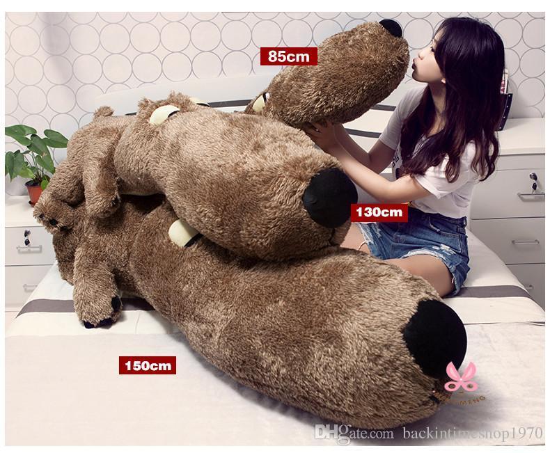 "teddy bear giant teddy bear Brown Grey Hedgehog Color 34"" 51"" 59"" Size 85cm 130cm 150cm birthday gift"