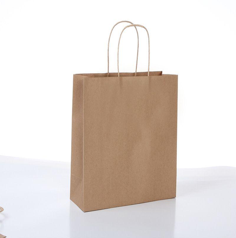 6sizes custom printed logo gift kraft paper bag/Recyclable brown kraft paper bag/white kraft paper bag