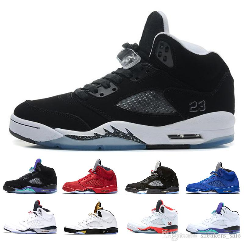 ff718d40a9c1 2019 Basketball Shoes 5 5s Oreo Space Jam Olympic Metallic Gold For Men Hot  Red Suede White Cement International Flight Trainers Sport Sneakers From ...